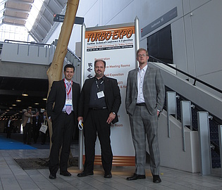Dr. Emil Göttlich, Rosario Spataro and Thorsten Selic at the ASME Turbo Expo in Copenhagen