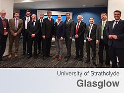 Gruppenbild der Delegation der TU Graz mit Vertretern der Universität Strathclyde.
