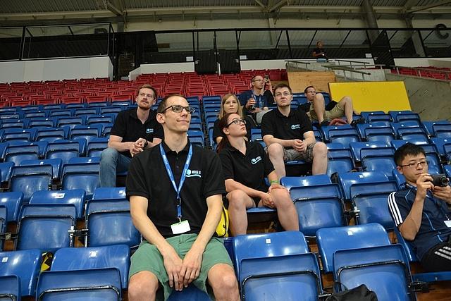 BCI Racing Team members watching other Cybathlon disciplines