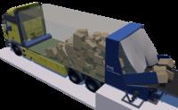 Automatische Paketentladeeinrichtung