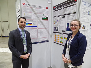 Pascal Bader and Sabine Bauinger presenting their research poster at the ASME Turbo Expo 2016 in Seoul, South Korea