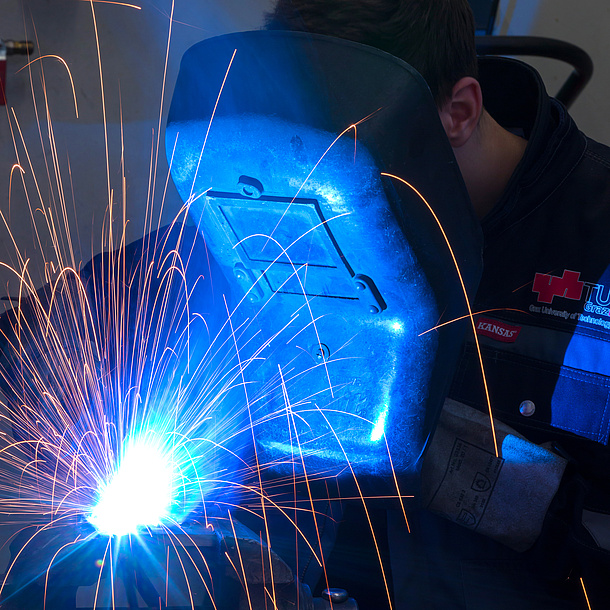 Welding process. Photo source: Lunghammer - TU Graz