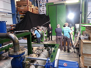 Prof. Heitmeir being interviewed for a documentation on the TAKE-OFF-Project SEIKON3D