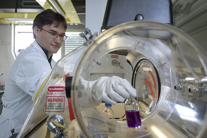 Manuel Eibinger steht im Labor.