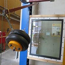 Einbruchhemmung Fenster. Dynamische Prüfung EN1629