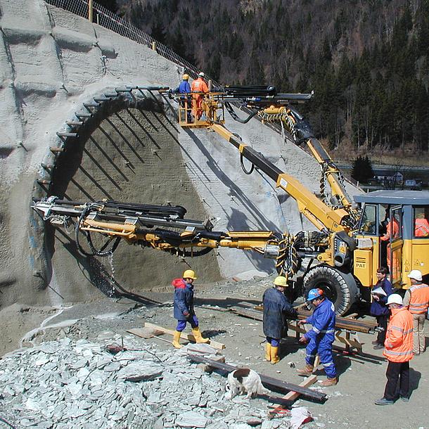 Tunnel-Bauarbeiten. Bildquelle: Schubert – TU Graz
