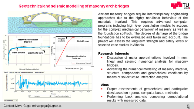 Geotechnical and seismic modelling of masonry arch bridges