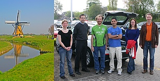 Jakob Woisetschläger with students and friends during his 'Erasmus teaching mobility' in the Netherlands.