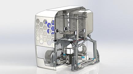 Detaildarstellung einer Maschine