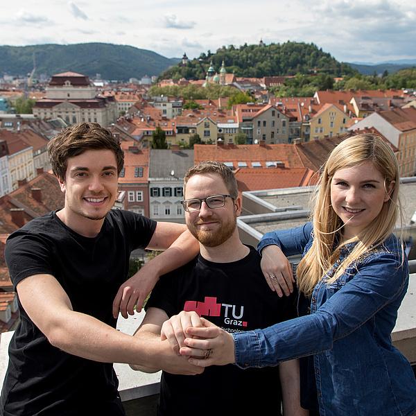 Drei Studenten der TU Graz, Bildquelle: Lunghammer – TU Graz