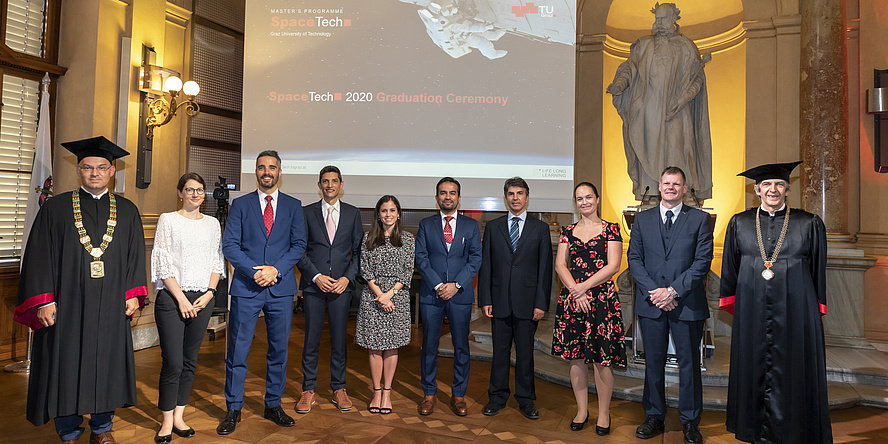 Graduates of the SpaceTech Master's programme.