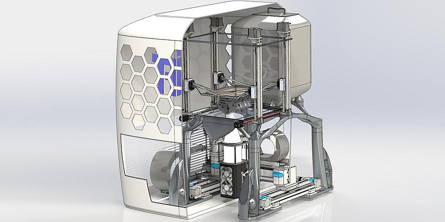 Visualization of a machine