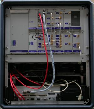 Open box of an avalanche radar