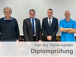 Gruppenbild der Prüfungskommission zusammen mit Herrn Agreiter.