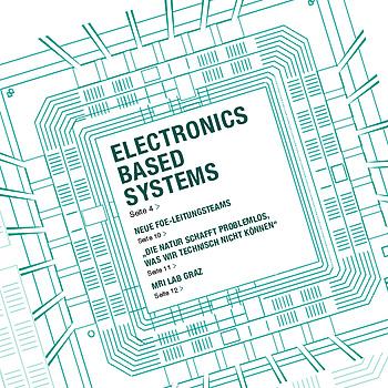 Eine Zeichnung eines Mikrochips. In der MItte steht Electronics Based Systems.