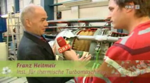 Professor Heitmeir at an interview with the austrian broadcasting corporation ORF concerning the volcano ash cloud over europe and aircraft gas-turbine operation.