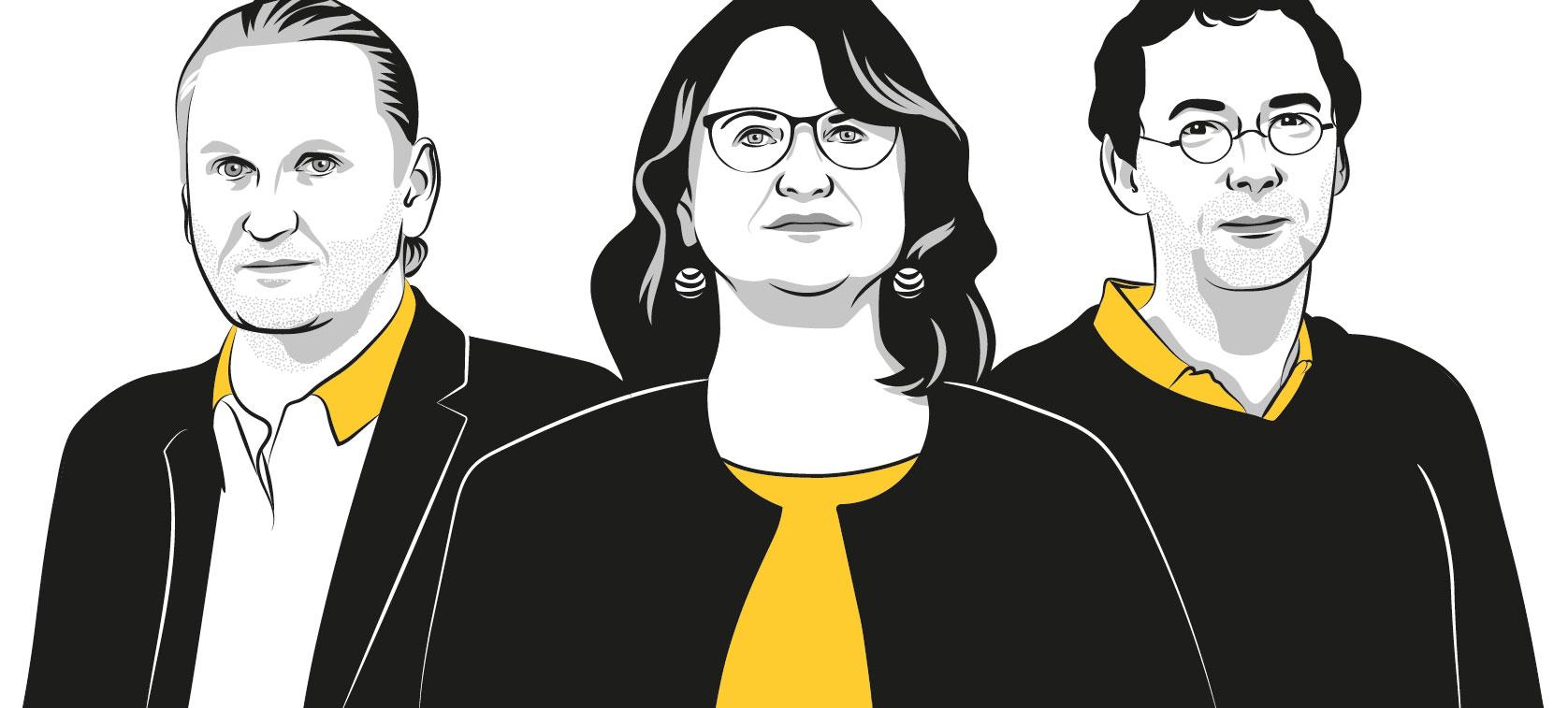 Illustrationen von Gernot Müller-Putz, Bernd Nidetzky und Gabriele Berg