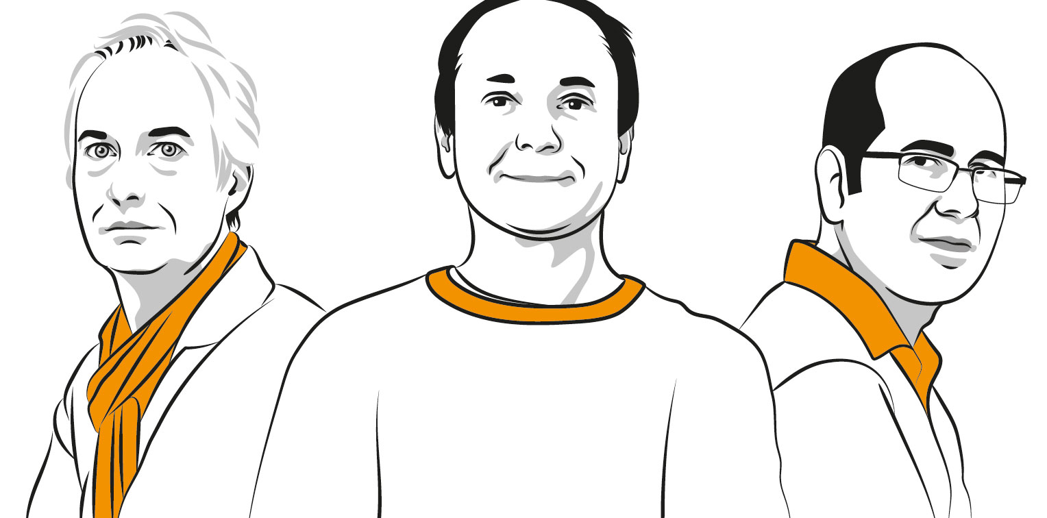 Illustrations of Kay Uwe Römer, Oswin Aichholzer and Michael Kerber