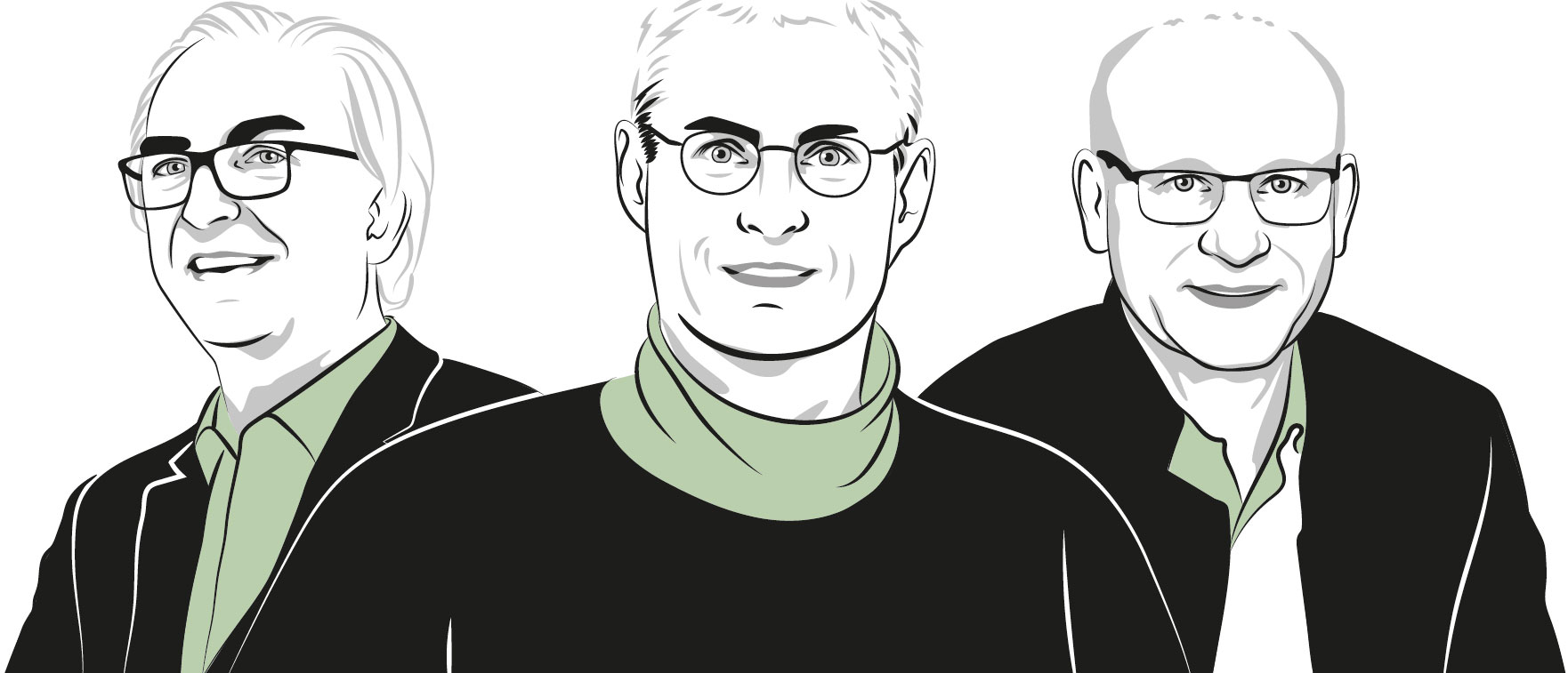 Illustrations of Urs Hirschberg, Martin Fellendorf and Christoph Hochenauer