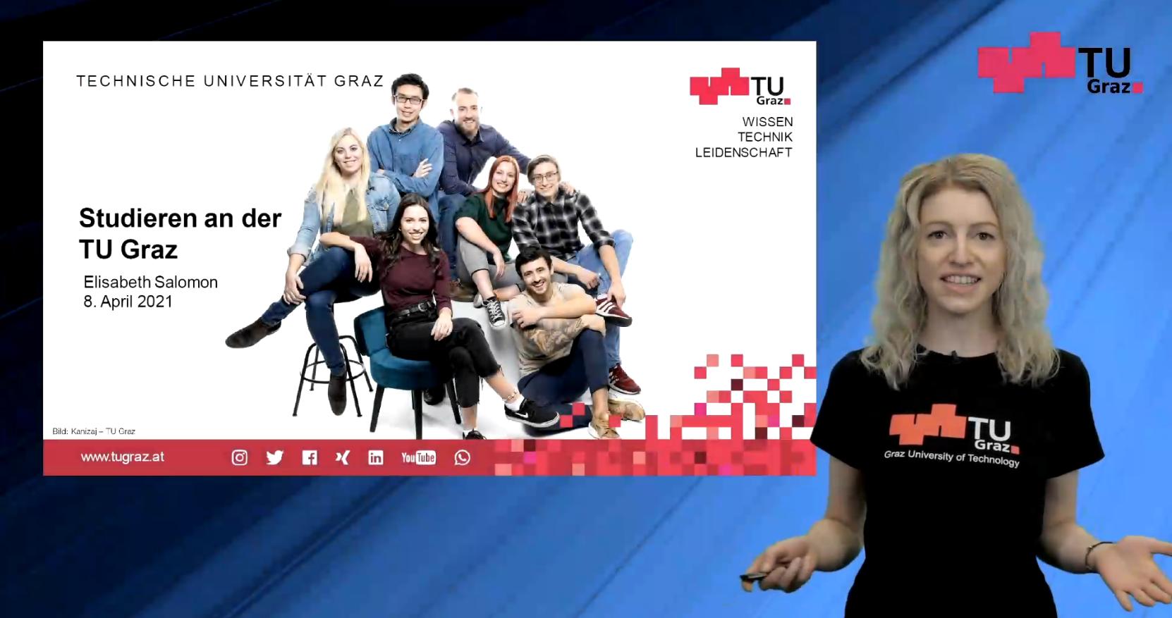 Präsentation Studieren an der TU Graz, Elisabeth Salomon