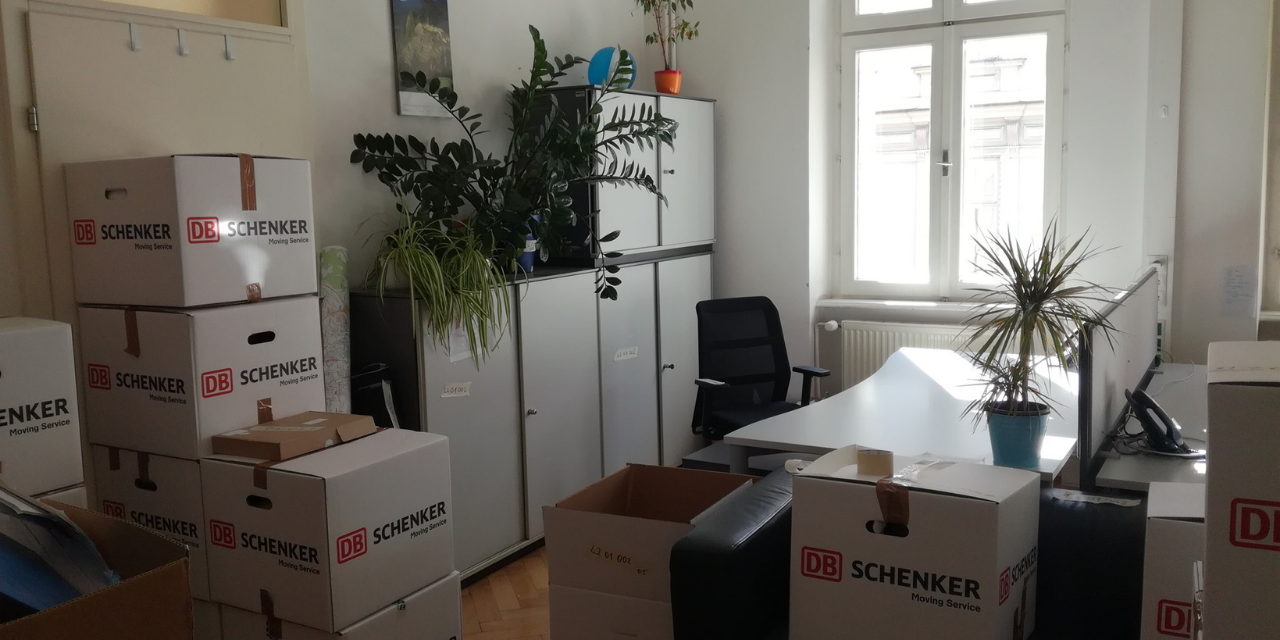 Office, movin out, boxes