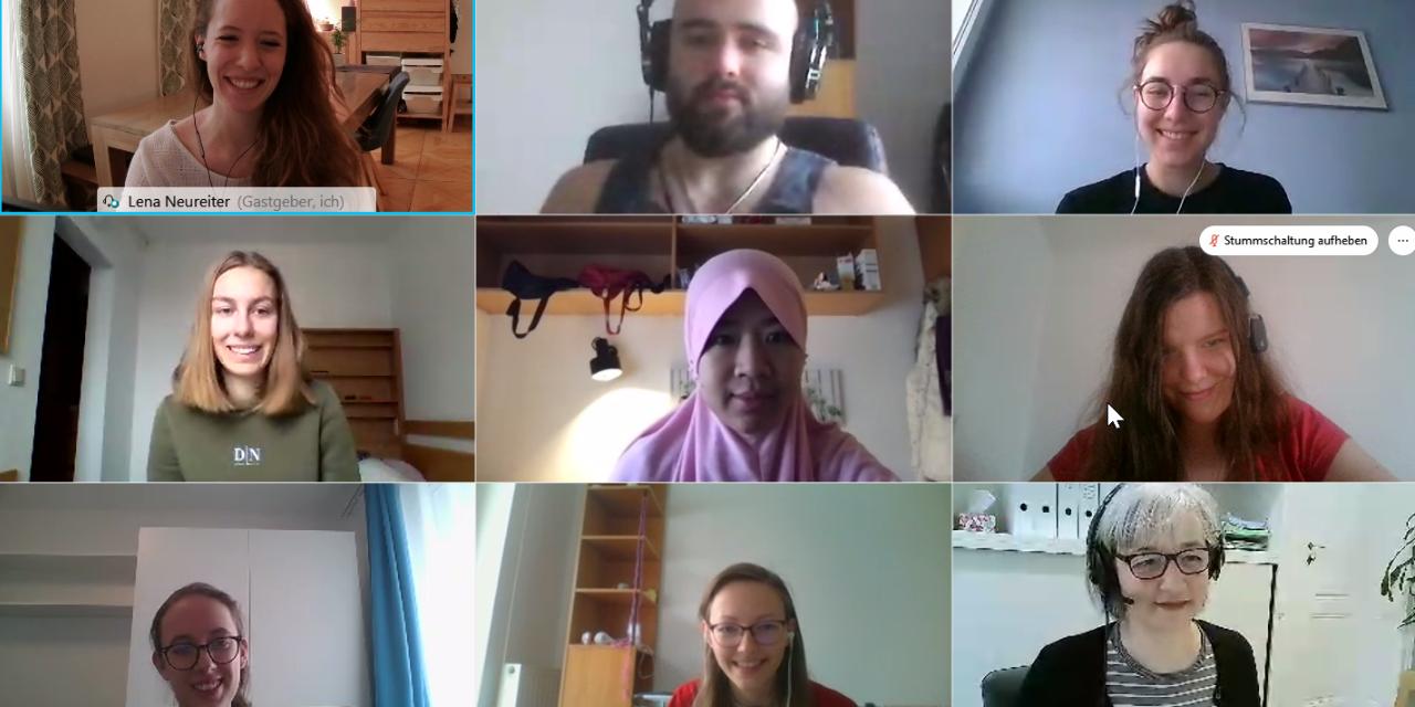online, meeting, coordinators, international affairs, students