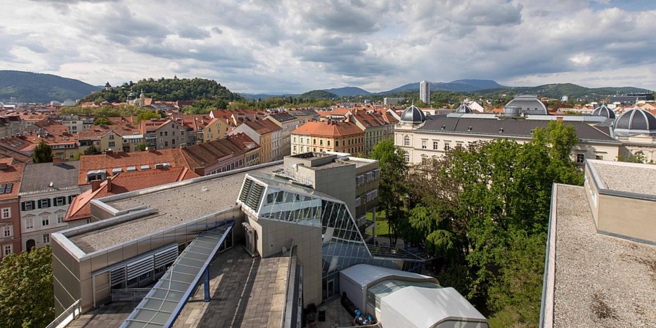 campus, TU Graz, city, overview