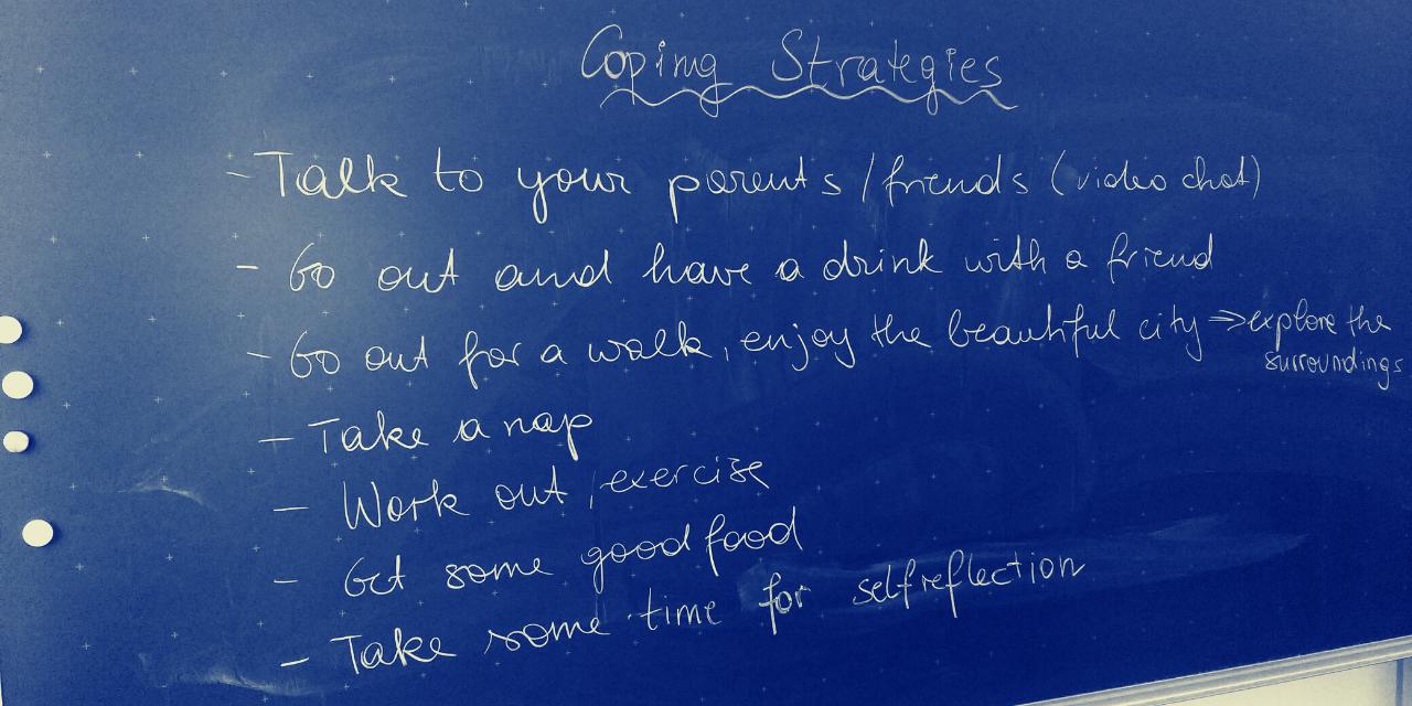 Blackboard, coping strategies, intercultural awareness