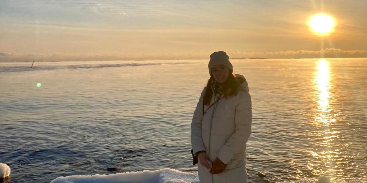 sun, student, Helsinki, ice, scandinavia