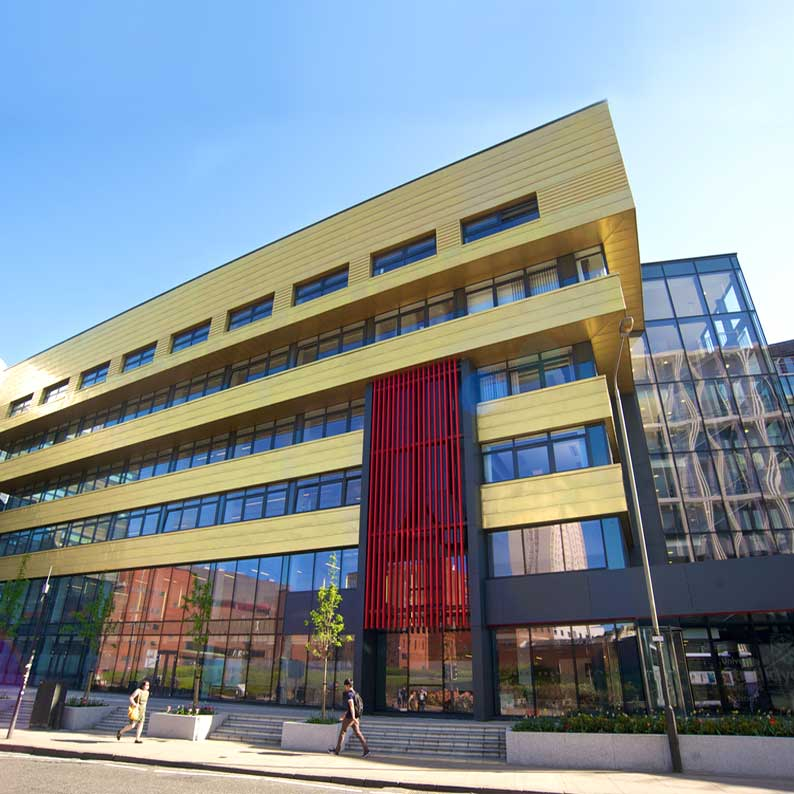 Modern building of Strathclyde University