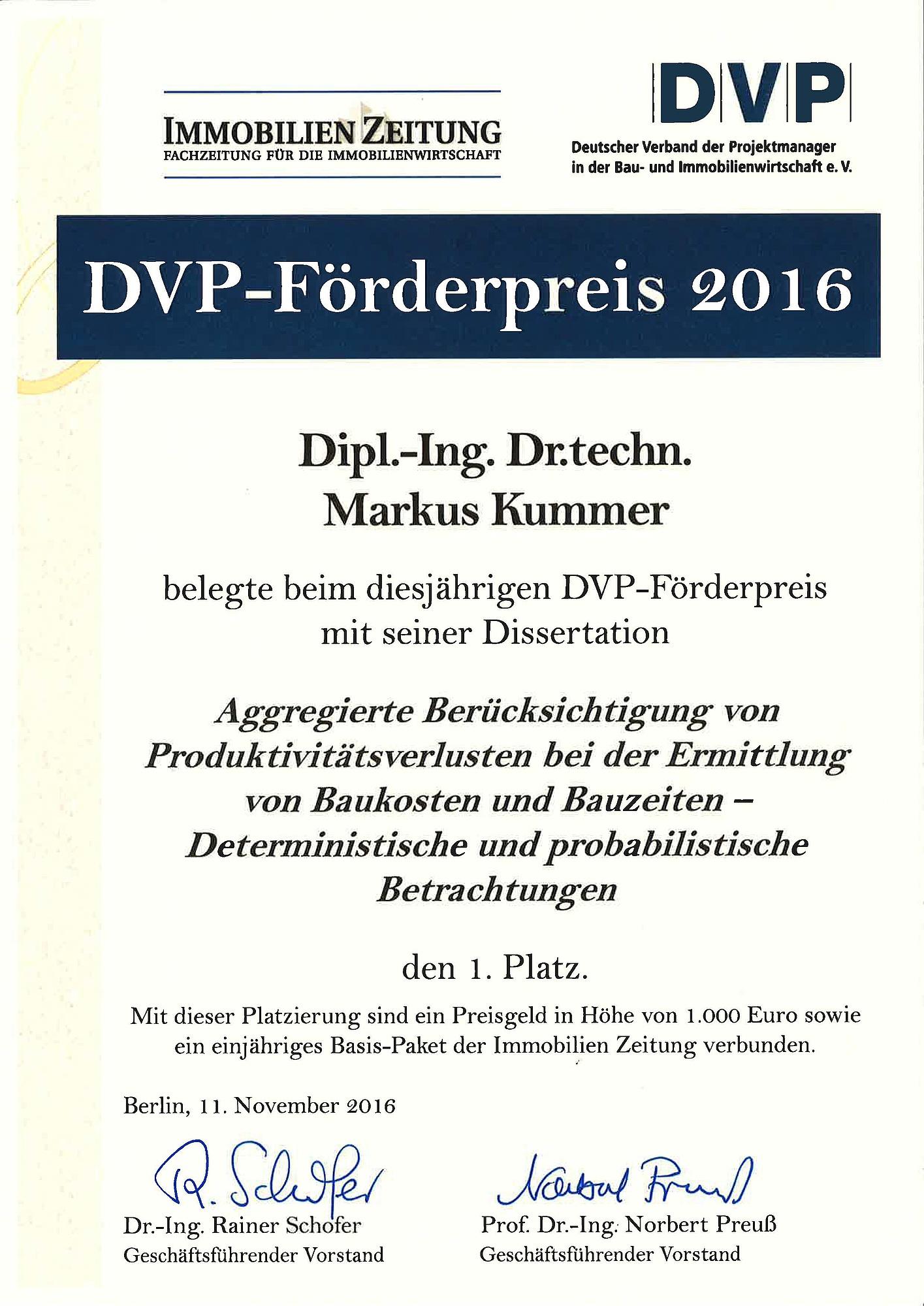 BBW - Preise & Auszeichnungen
