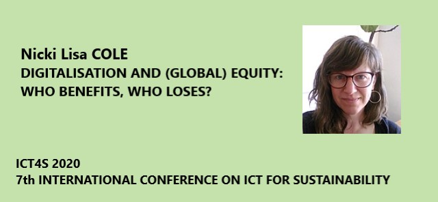Nicki Cole at the ICT4S 2020