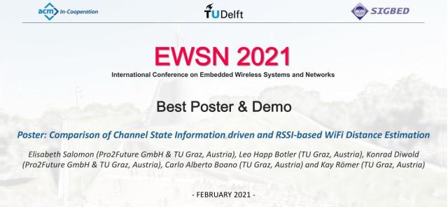 ITI Forscher erhalten Auszeichnung bei EWSN 2021