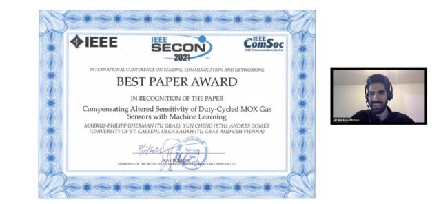 SECON 2021 Best Paper Award