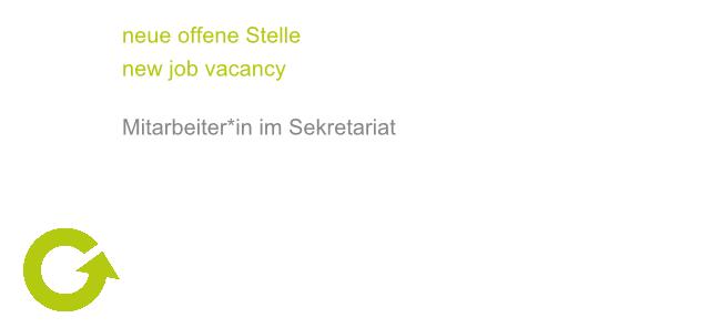 Offene Stelle: Sekretariat