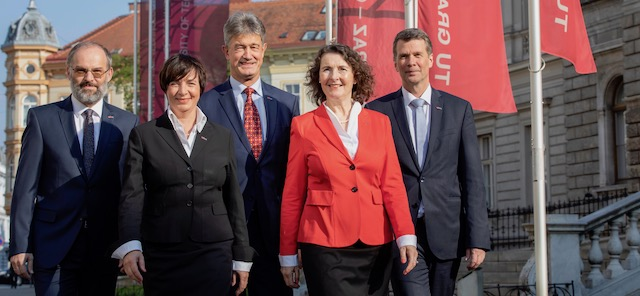 TU Graz: Leadership team for the new Rectorate term is now complete
