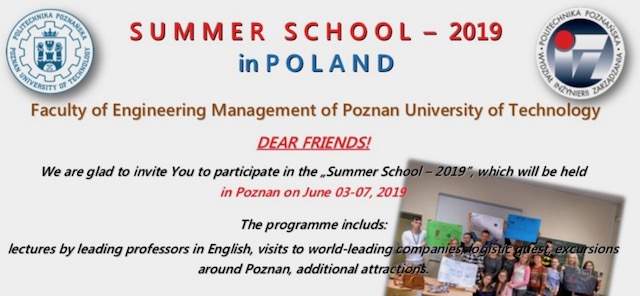 Summer School in Poznan, Poland